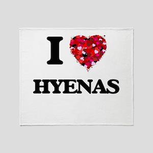 I love Hyenas Throw Blanket