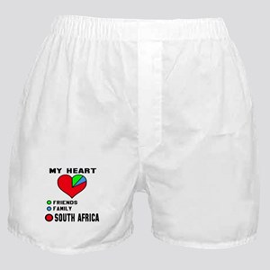 My Heart Friends, Family and South Af Boxer Shorts
