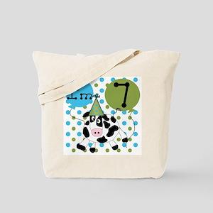 Cow 7th Birthday Tote Bag