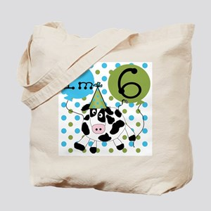 Cow 6th Birthday Tote Bag