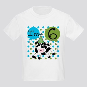 Cow 6th Birthday Kids Light T-Shirt