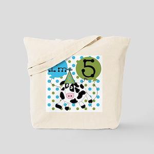 Cow 5th Birthday Tote Bag