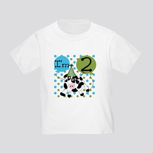 Cow 2nd Birthday Toddler T-Shirt