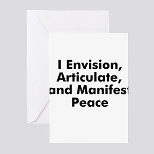 I Envision, Articulate, and M Greeting Cards (Pk o