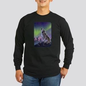 Howling Wolf 2 Long Sleeve Dark T-Shirt