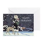Borzoi Winter Holiday Greeting Cards 20pk