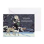 Borzoi Winter Holiday Greeting Cards 10pk
