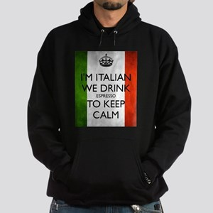 We Drink Espresso to Keep Calm Hoodie