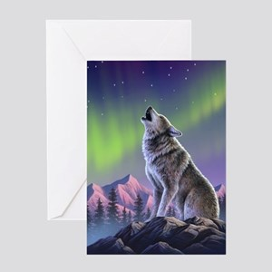 Howling Wolf 2 Greeting Card