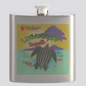 Leatherback Shack Shower Curtain Flask