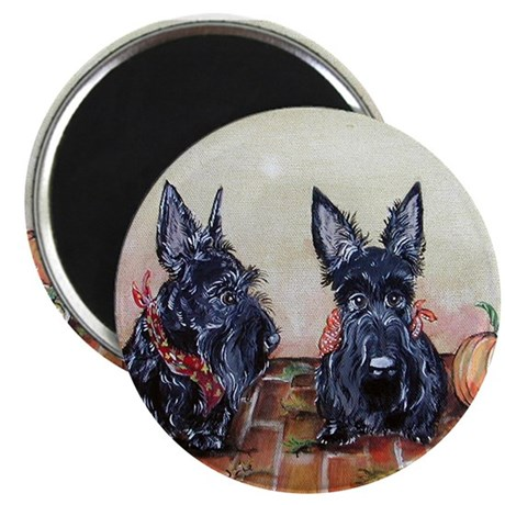 Autumn Scotties Magnet
