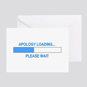 APOLOGY LOADING... Greeting Card