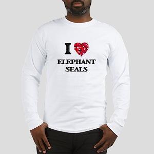 I love Elephant Seals Long Sleeve T-Shirt