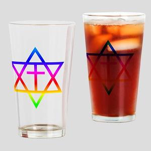 Messianic Judaism Symbol Drinking Glass