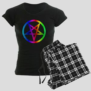 Rainbow Satanism Symbol Women's Dark Pajamas