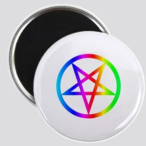 Rainbow Satanism Symbol Magnet