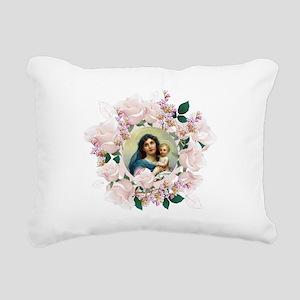 Madonna and Child Rectangular Canvas Pillow