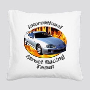 Toyota Supra Square Canvas Pillow