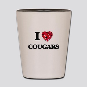 I love Cougars Shot Glass