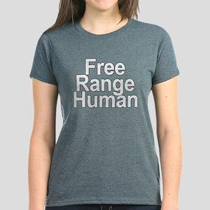Free Range Human Women's Dark T-Shirt