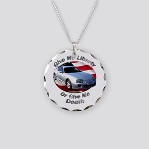 Toyota Supra Necklace Circle Charm