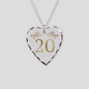 20th Birthday Anniversary Necklace Heart Charm