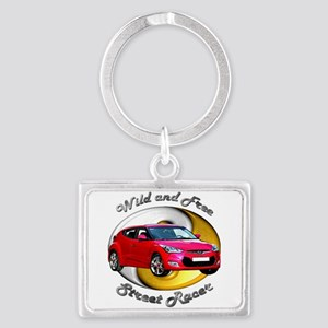 Veloster Rectangle Keychains Cafepress
