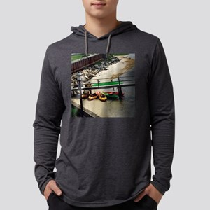 Colorful Kayaks under Dock Long Sleeve T-Shirt