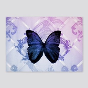 cute hipster girly butterfly 5'x7'Area Rug