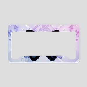 cute hipster girly butterfly License Plate Holder