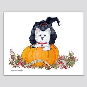 Westie Halloween Witch Small Poster