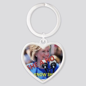 Say No to tha HO! Vote Against Hill Heart Keychain