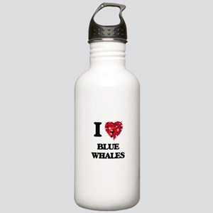 I love Blue Whales Stainless Water Bottle 1.0L