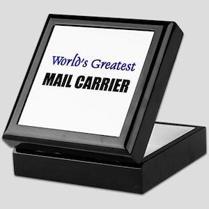 Worlds Greatest MAIL CARRIER Keepsake Box