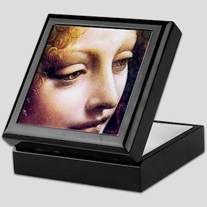 Leonardo da Vinci - Angel (detail) Keepsake Box
