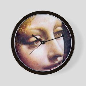 Leonardo da Vinci - Angel (detail) Wall Clock