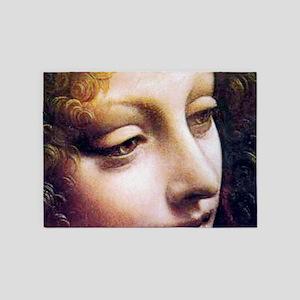 Leonardo da Vinci - Angel (detail) 5'x7'Area Rug