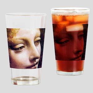 Leonardo da Vinci - Angel (detail) Drinking Glass