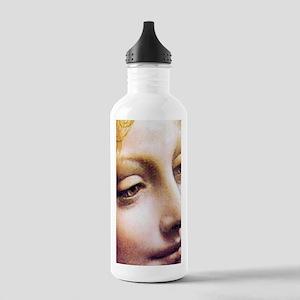Leonardo da Vinci - Angel (detail) Water Bottle