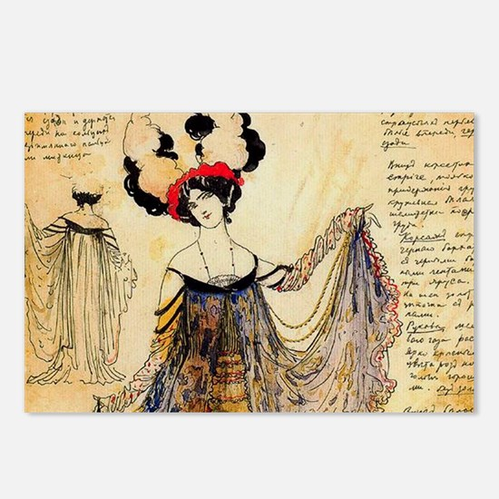 Leon Bakst Notes for a costume Postcards (Package