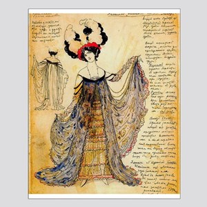 Leon Bakst Notes for a costume Posters