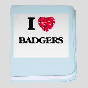 I love Badgers baby blanket