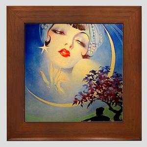 Henry Clive Woman in the Moon, Art Deco Framed Til