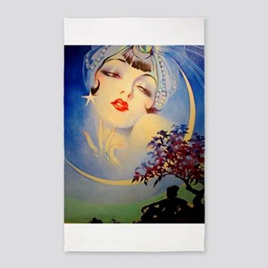 Henry Clive Woman in the Moon, Art Deco Area Rug