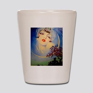 Henry Clive Woman in the Moon, Art Deco Shot Glass