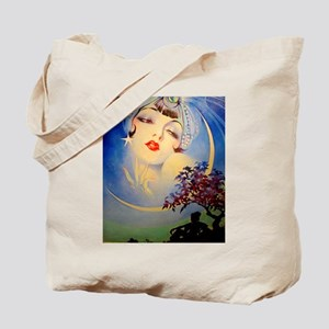 Henry Clive Woman in the Moon, Art Deco Tote Bag
