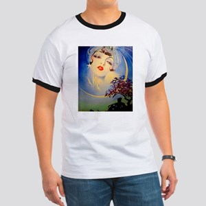 Henry Clive Woman in the Moon, Art Deco T-Shirt