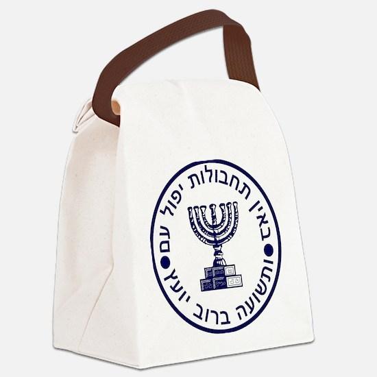 Cute Hebrew Canvas Lunch Bag