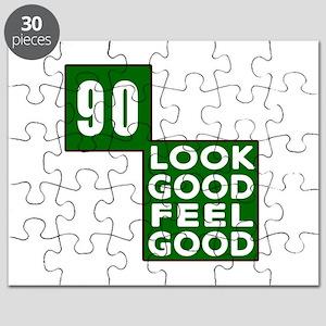 90 Look Good Feel Good Birthday Puzzle