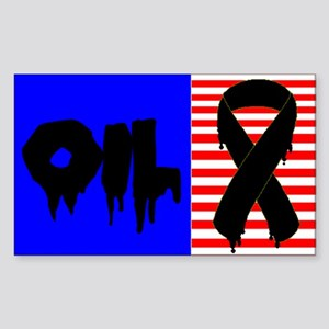 OIL SUPPORT RIBBON. Support Our Troops not Oil